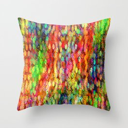 Bokeh Abstract - Boho Lights Throw Pillow