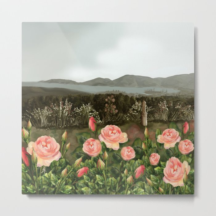 Le Rose Metal Print