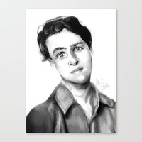 ezra koenig Canvas Prints featuring Ezra Koenig by annelise johnson