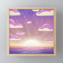 Ocean Sunset Framed Mini Art Print