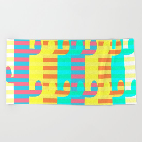 Cacti light Beach Towel