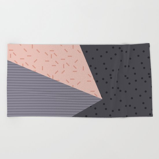 Geometry Blocks 8 Beach Towel
