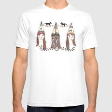 Tipi Party Mens Fitted Tee MEDIUM White