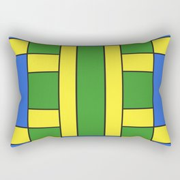 They were all yellow... blue and green Rectangular Pillow