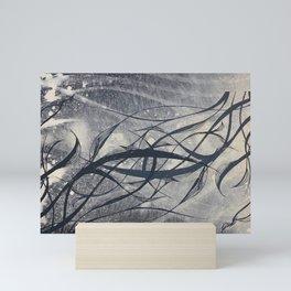 underwater black and white nature Mini Art Print