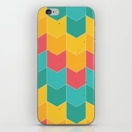 Colorful chevrons iPhone Skin