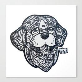 Tangle Dog Copper Canvas Print