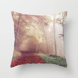 Misty Autumn Day Throw Pillow