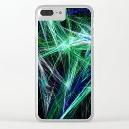 Green light beam Clear iPhone Case