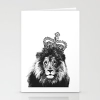 the lion king Stationery Cards featuring Lion King by MaNia Creations