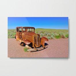 Relic of Historic Route 66 in Arizona Metal Print