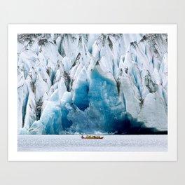 Ride to the Alaskan Glacier Art Print