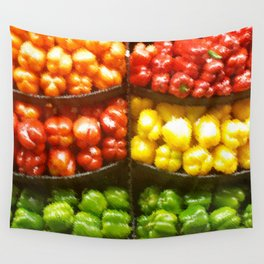 Bell Peppers from the Store Wall Tapestry
