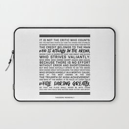 Teddy Roosevelt Daring Greatly The Man In The Arena Laptop Sleeve