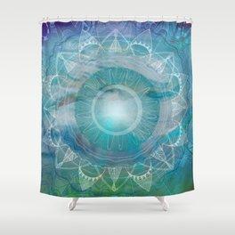 Vishuddha: Throat Chakra Shower Curtain