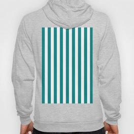 Vertical Stripes (Teal/White) Hoody