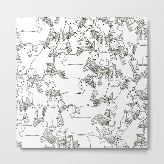 The Unicorns Metal Print