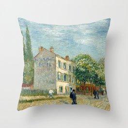 The restaurant Rispal in Asnières -  Van Gogh Throw Pillow