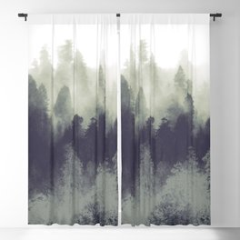 Mountain Forest Abstract Blackout Curtain