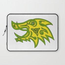 Boar Head Celtic Knot Laptop Sleeve