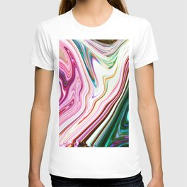 Colorful Marbleized Background T-shirt