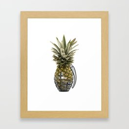 Pineapple Grenade Framed Art Print
