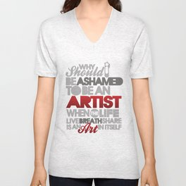 I am Artist (Black) Unisex V-Neck
