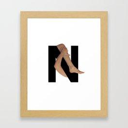 N. Framed Art Print