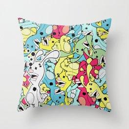 Bun Bun Throw Pillow