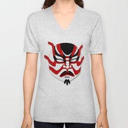 Kabuki Mask Unisex V-Neck