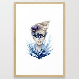 Ice Masquerade Framed Art Print