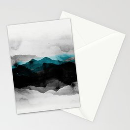 nature montains landscape Stationery Cards