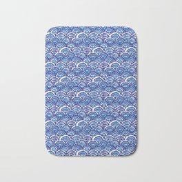 China fan dk blue Bath Mat