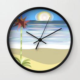 Gymea on Blue Wall Clock