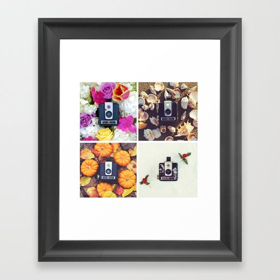 Brownie's Four Seasons Framed Art Print