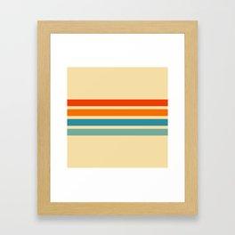 Classic Retro Stripes Cernunnos Framed Art Print