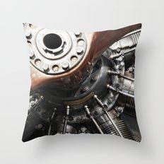 Airplane motor Throw Pillow