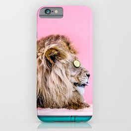 Lion in the Bathtub iPhone Case