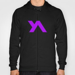 Youth Alive Purple & Black on White Hoody