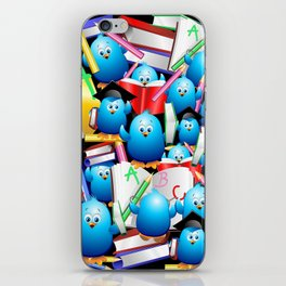 Back to School Cute Blue Birds iPhone Skin