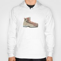 hiking Hoodies featuring Hiking Boot 2 by Yellow Chair Design