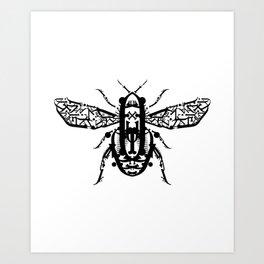 Beetle Type Art Print