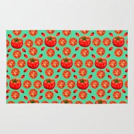 Turquoise Tomato Rug