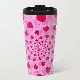 Fractal Art- Heart Art- Pink Heart- Red Heart Art- Popillol- Childrens Art-Love Art- Sacred Geometry Travel Mug
