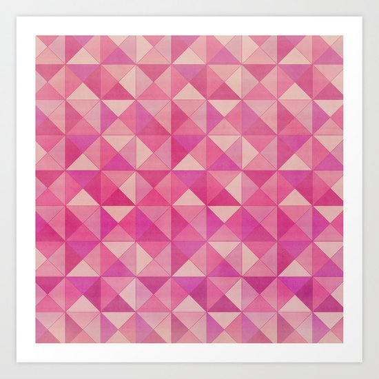 Magenta : Pattern Art Print