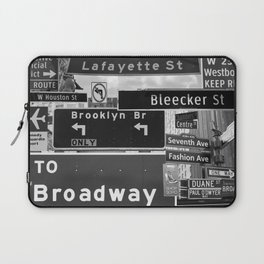 NYC streets signs Laptop Sleeve