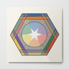 Babbitt's Chromatic Harmony of Gradation and Contrast, 1878, Remake, Interpretation Metal Print