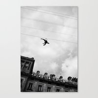 the wire Canvas Prints featuring Wire by mol.