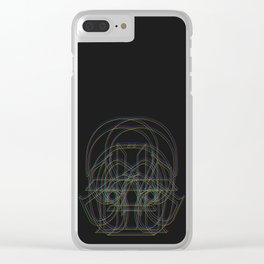 D like Darth Vader (RVB version) Clear iPhone Case