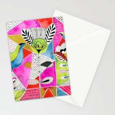 Tulips and Triangles Stationery Cards